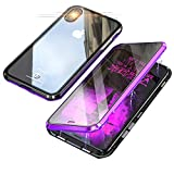 Jonwelsy Schutzhülle für iPhone XS Max, 360 Grad vorne und hinten, aus gehärtetem Glas,...