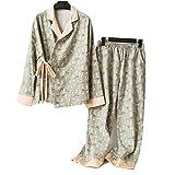 SPLLEADER Kimono-Pyjamas-Anzug-Japanische Yukata Pyjama Gesetzt Kimono Nachthemd Morgenmantel,Lose...