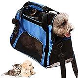 ZoneYan Hund Reisetasche Tasche, Transportbox Hund Katze, Haustier Träger Bag, Pet Tragetasche...