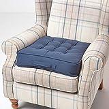 Homescapes großes Sitzkissen 50 x 50 cm, dunkelblau, Sitzpolster für Sessel und Sofas mit...