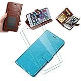 WLSM für Nokia 7.2 Hülle, Wallet Case, [2 x Schutzfolie Screen ], Handy Klapphülle, Schutzhülle...