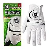 Footjoy Herren WeatherSof Cabretta Leder Allwetter 3er-Pack LH Golf-Handschuh XL