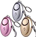 U UZOPI Taschenalarm - 140 dB Safesound Personal Alarm mit Taschenlampe Schlsselanhnger, Panikalarm...