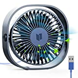 RATEL Mini USB Tischventilator, 12,5 cm USB Ventilator 3 Geschwindigkeiten Tragbar PC Ventilator mit...