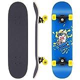 WeSkate Skateboard Komplettboard 79x20cm Holzboard mit ABEC-11 Kugellager 31 Zoll 7-lagigem...