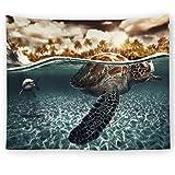 OTIAN Home Dekorative Wandteppich Schildkröten Gedruckter Mandala Wandteppich Hippie Wandbehang...