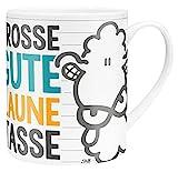 Die Geschenkewelt 45395 XL-Tasse mit Sheepworld-Design Große Gute Laune Tasse, Porzellan, in...