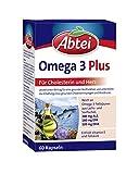Abtei Omega 3 Plus - Nahrungsergänzungsmittel reich an Omega-3-Fettsäuren für den...