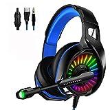 WZTO Gaming Headset für PS4, PC Xbox One Gaming Kopfhörer mit Mikrofon Stereo Surround Bass Sound...