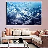 GJQFJBS Kunst Poster Drucken Hd Dekoration Landschaft Wand Wolke Kunst Wohnzimmer Bild Leinwand...