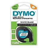 DYMO LT Etikettenband Authentisch | schwarz auf weiß | 12 mm x 4 m | selbstklebendes...