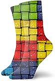 Nifdhkw Socken aus Polyester, abstraktes Muster, verschiedene Farben