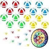 16 Stücke Dart Board Klebrige Ball Ersatz Klebriger Ball Set für Stoff Dart Board Sicherheit...