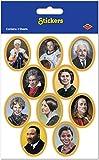 Aufkleber mit Gesichtern in der Geschichte (Einheiten pro Fall, 36 Stück)