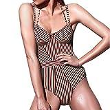 Damen Einteilig Schwimmanzug 2020 Halfter Up Push Festlich Bekleidung Bikini Badeanzug Streifen One...