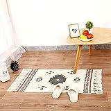 Rui Feng Läufer Teppich Baumwolle Waschbar Handwebteppich 60x90cm Vintage Marokkanisches Muster...