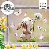 Wandtattoo Loft Fensterbild Frhling Ostern wiederverwendbar Fensteraufkleber Kinderzimmer Hase mit...