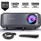 Beamer, 6000 LM Full HD 5.8' LCD Video Projektor 1080P HDMI USB VGA SD Card AV für Office...