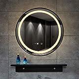 LILL Wandspiegel Bügeln Sie keinen Nebel geführten Badezimmerspiegel Nordic Sink Round an der Wand...