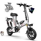Elektrofahrrad Ebike, Mountainbike Klapprad 12 Zoll mit 48V 11Ah Lithium-Akku, 350 W Motor 30 km/h,...