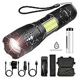 Super helle Taschenlampe mit COB-Seitenlicht 4 Beleuchtungsmodi Wasserdichte Taschenlampe Für...