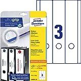 AVERY Zweckform L6059-25 Ordnerrücken Etiketten (mit ultragrip, 59 x 297 mm auf DIN A4, breit/lang,...