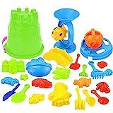 Kinder Sandspielzeug Set 25 Stück Strandspielzeug Sand und Wasser Spielzeug für Jungen und...