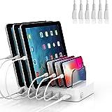 SooPii 6-Port USB Ladestation für Mehrfach Geräte,6 Ladekabel für Telefone, Tablets und andere...