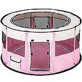 TecTake Welpenlaufstall Tierlaufstall faltbar mit abnehmbarem Boden für Kleintiere wie Hunde,...