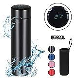 flintronic Thermosflasche, (500ml) Wasserflasche Vakuum Isolierbecher 304 Edelstahl,...