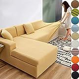 XHTANG Sofabezug Sofaberwrfe fr L-Form Sofa elastische Stretch Sofabezug