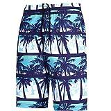 DeHolifer Herren Slim Fit Freizeit Shorts Casual Mode Urlaub Strand-Shorts Sommer Kokosnuss Palmen...