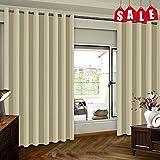 Flei Vorhange 220x210cm, Dicker Vorhang, Blickdicht Thermo Schalldämmend, für Wohnzimmer...