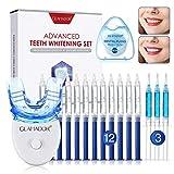 Teeth Whitening Kit, GLAMADOR Wiederverwendbares Zahnaufhellung Set, 12 Zahnaufhellungsgel, 3...
