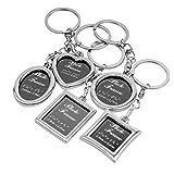 BESTOYARD 5pcs Bilderrahmen Keychain Set Mini Bilderrahmen Schlüsselanhänger Ornament...