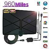 Dwigh Digitale Antenne für TV Indoor 960 Mile Reichweite Antenne TV Digital 4K HD Digital Indoor...