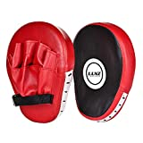 Luniquz 1 Paar PU Handpratzen Pratze Boxen Boxing Kickboxen Pads vorgekrümmt Kick-MMA Muay Thai...