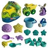 Kinder Sandspielzeug, 20 Teile, Strandspielzeug inklusive LKW, Eimer, Gießkanne, Wasserrad, vielen...