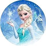 Frozen, ELSA Runde Tortenaufleger Eiskönigin 20CM - Geburtstag Tortenbild Zuckerbild Tortenplatte...