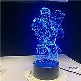 GYWLE Dragon Ball moderne 3D-LED-Leuchten 7 Farben ändernde Atmosphäre Cartoon Geschenke...