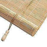 LY88 Rollo aus Bambus, Rollo, Vorhang, Rollo, für Fenster und Fenster, Natur, für Schlafzimmer,...