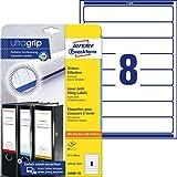 AVERY Zweckform L6060-10 Ordnerrücken Etiketten (mit ultragrip, 34 x 192 mm) auf DIN A4,...