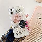 Gold Pulver geometrische Graffiti Handytasche fr iPhone 11 Pro Max Xr Xs Max 6 6 s 7 8 Plus X weiche...