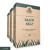 Rasenkalk Bloom & Green (3 x 5 kg) I Garten-Kalk fr nachhaltige Boden-Lockerung & Krmelstruktur I...