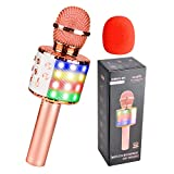 Qoosea Karaoke Mikrofon, Drahtloses Bluetooth Karaoke Mikrofon Kinder, Tragbares KTV Mikrofon mit...