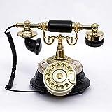 Cylficl Europäische Vintage Telefon Drehbare Platte Drehscheibe Telefon Antike Telefone Festnetz...