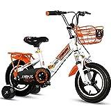 Faltrad, 18 Zoll Kinderrennrad mit Integrierten Laufrädern und Stoßdämpfung, für Outdoor-Reisen...