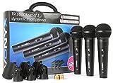 Vonyx VX1800S - Mikrofon Set, Gesangsmikrofone, Dynamische Mikrofone, für Sprache und DJ-Nutzung, 3...