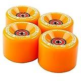 FunTomia 4 Stck Longboard/Skateboard/Mini-Board Rollen (Big Wheels) in 65x45mm 80A inkl. Mach1...