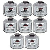 Go System 8 x Schraubkartusche Ventil Gas Kartusche Kocher Iso Butan/Propan 220 g